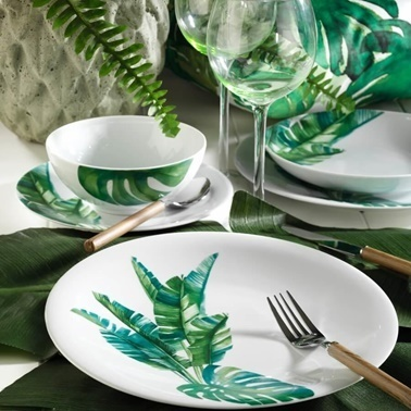 Kütahya Porselen Kütahya Porselen 10150 Desen 24 Parça Yemek Seti Renkli